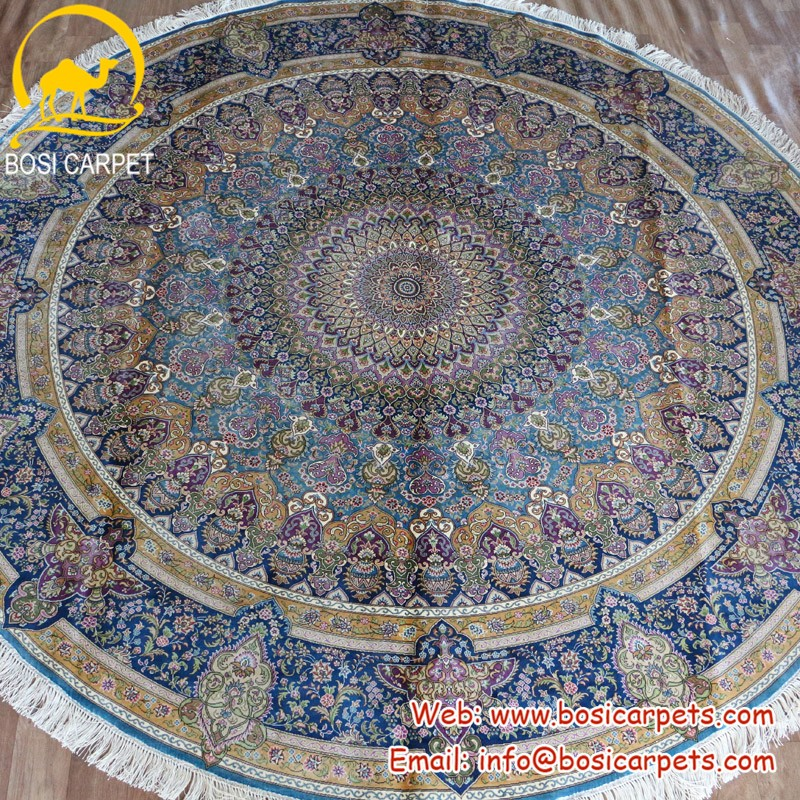 round silk carpet