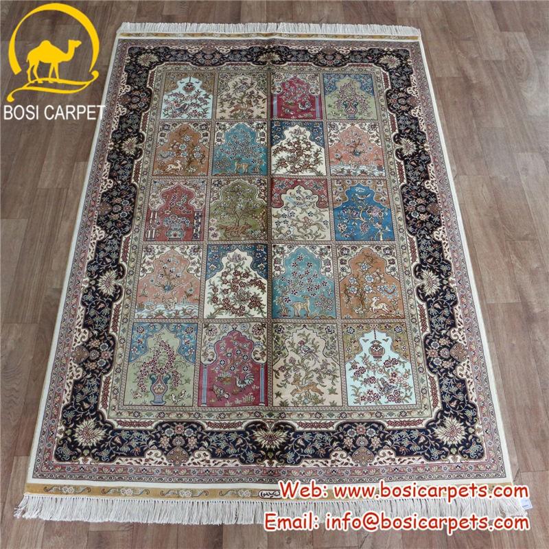 Garden silk carpet